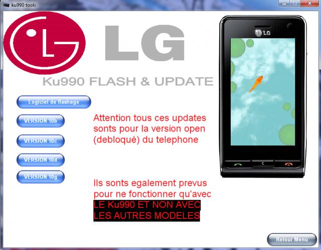 KU990I SUITE LG GRATUIT PC TÉLÉCHARGER