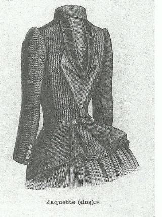 Patron veste femme 1900